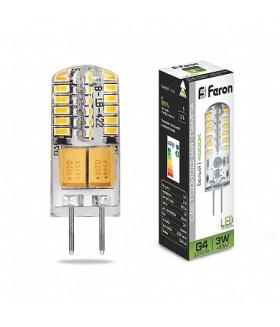 Лампа светодиодная, (3W) 12V G4 4000K, LB-422