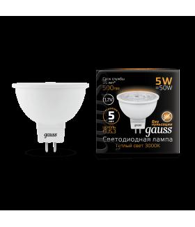 Лампа Gauss LED MR16 GU5.3 5W 12V 2700K 1/10/100