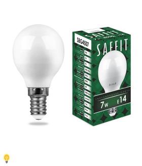 Лампа светодиодная SAFFIT SBG4507 Шарик E14 7W 4000K 55035