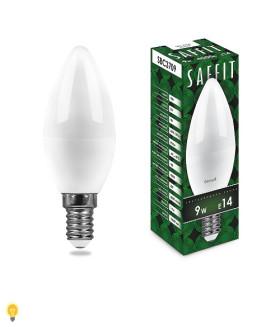 Лампа светодиодная SAFFIT SBC3709 Свеча E14 9W 4000K 55079