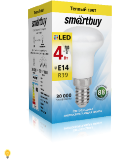 Светодиодная (LED) Лампа Smartbuy-R39-04W/3000/E14 (SBL-R39-04-30K-E14)
