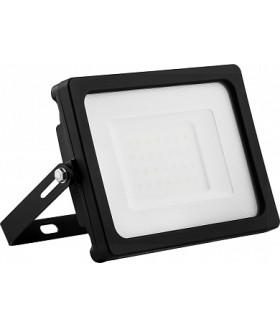 Прожектор светодиодный 2835 SMD 30W 6400K IP65 AC220V/50Hz, черный с матовым стеклом , LL-920