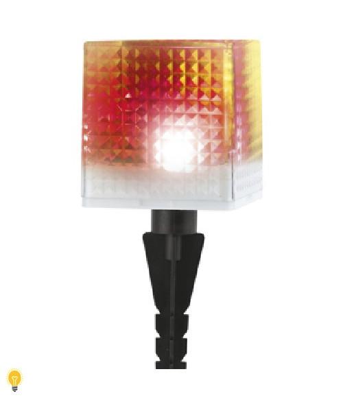 Садовый светильник на солнечной батарее, пластик, прозрачный, черный, 20 см SL-PL20-СUB ЭРА