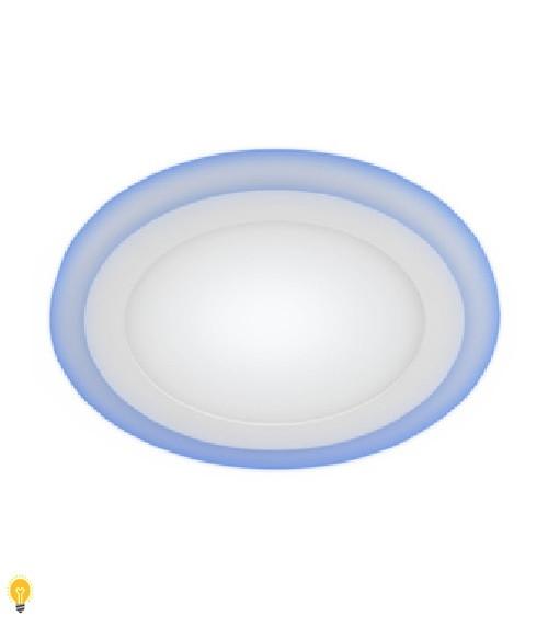 Светильник ЭРА светодиодный круглый c cиней подсветкой LED 9W 220V 4000K LED 3-9 BL