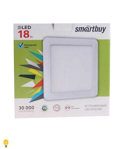Встраиваемый (LED) светильник DL Smartbuy Square-18w/5000K/IP20 (SBL-DLSq-18-5K)