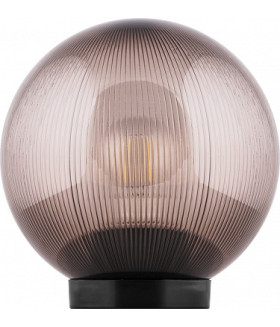 Светильник садово-парковый, ПМАА, 230V E27, d=250мм, призма дымчатый, НТУ 02-60-255, 11568