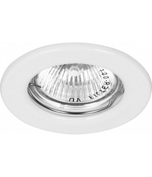 Светильник потолочный встраиваемый, MR16 G5.3 белый, DL10