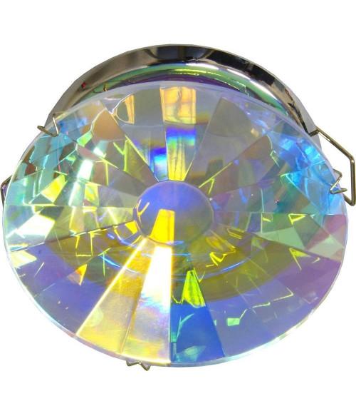 Светильник потолочный, MR16 G5.3 с многоцветным стеклом, хром, DL220-C
