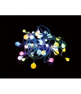 Гирлянда 230V 40 LED мульти, 0.06W, 42mA, длина 4.3 м, IP20, шнур 1,2м 0.5мм, CL55