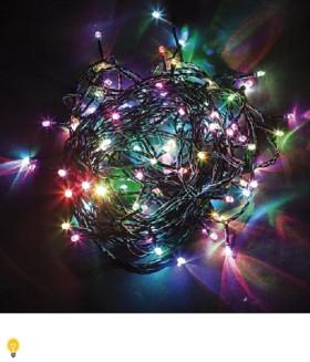 Гирлянда 24V 400 LED мульти, 14W, с 48W-драйвером , IP 65, шнур 5м 0.2мм, CL07