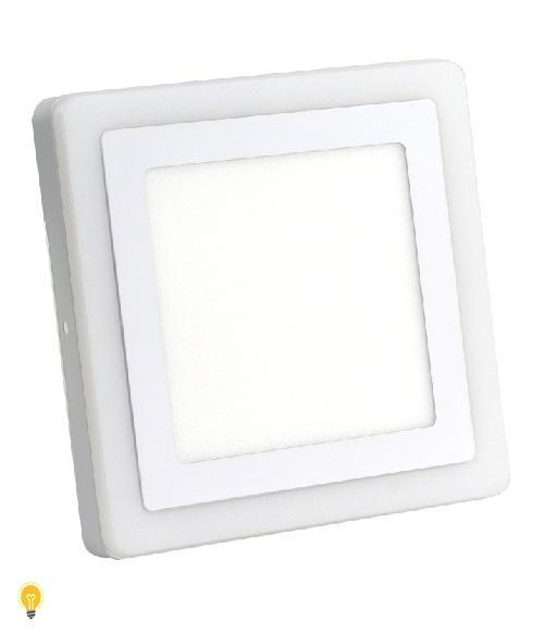 Встраиваемый (LED) светильник Квадрат с подсветкой DLB Smartbuy-13w/6500K+O/IP20(SBLSq-DLB-13-65K-O)