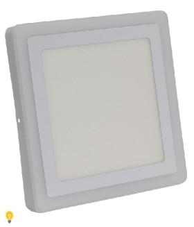 Встраиваемый (LED) светильник Квадрат с подсветкой DLB Smartbuy-18w/3000K+B/IP20 (SBLSq-DLB-18-3K-B)