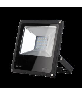 Прожектор светодиодный Gauss LED 20W IP65 6500К черный 1/60