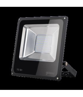 Прожектор светодиодный Gauss LED 70W IP65 6500К черный 1/24