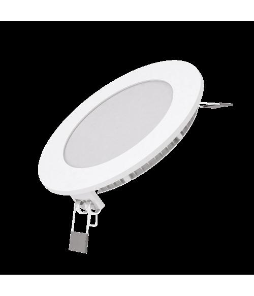 Светодиодный встраиваемый светильник Gauss ультратонкий круглый IP20 6W 2700K 1/20