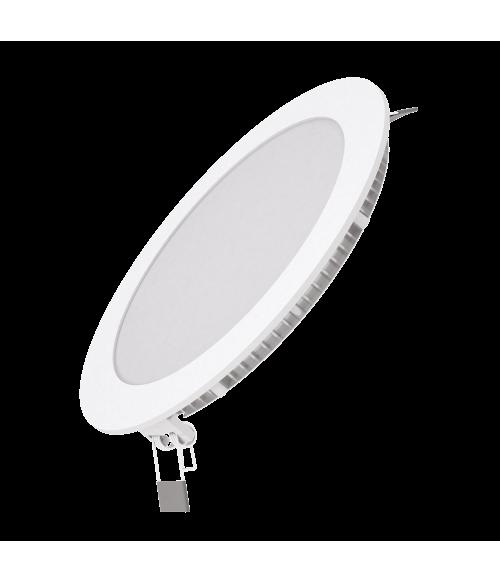 Светодиодный встраиваемый светильник Gauss ультратонкий круглый IP20 15W 2700K 1/20