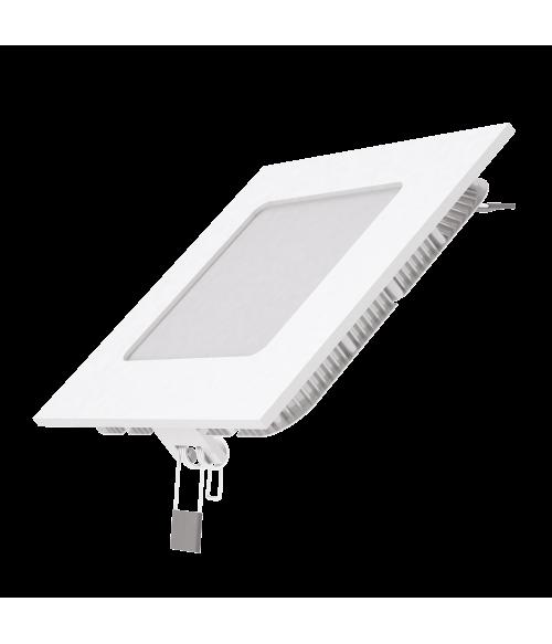 Светодиодный встраиваемый светильник Gauss ультратонкий квадратный IP20 6W 2700K 1/20