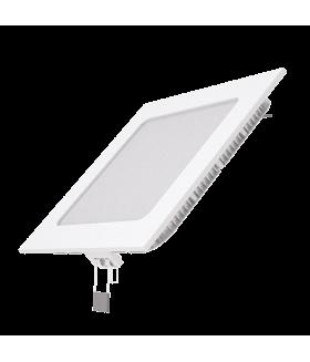 Светодиодный встраиваемый светильник Gauss ультратонкий квадратный IP20 9W 2700K 1/20