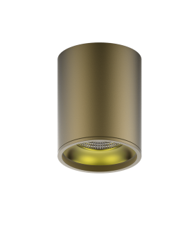 LED светильник накладной HD001 12 (кофе золото) 3000K 79x100мм 1/30