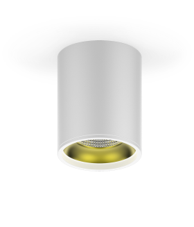 LED светильник накладной HD010 12 (белый золото) 3000K 79x100мм 1/30