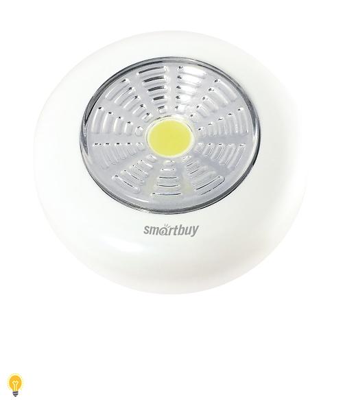 Светодиодный фонарь PUSH LIGHT 1 Вт COB, Smartbuy (SBF-CL1-PL)/240