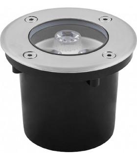 Светильник тротуарный, 3LED холодный белый, 3W, 100*H80mm, внутренний диаметр: 80mm, IP 67, SP4111, артикул 32013
