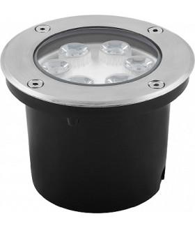 Светильник тротуарный, 6LED холодный белый, 6W, 120*H90mm, внутренний диаметр: 104mm, IP 67, SP4112, артикул 32016