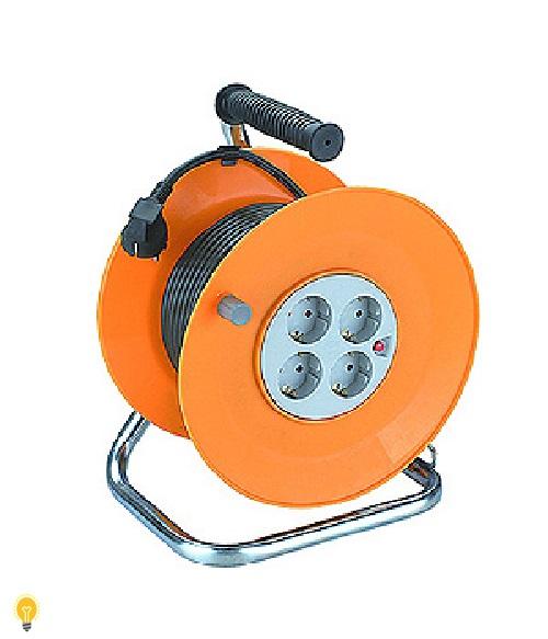 Удлинитель силовой ЭРА RP-4-3x1.0-50m  пласт. катушка с зазем. 50м 4гн  3х1мм2 RP-4-3x1.0-50m