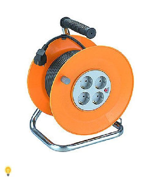 Удлинитель силовой ЭРА металлическая катушка с заземлением. 50м 4гн 3х1мм2 ЭРА RM-4-3x1-50m
