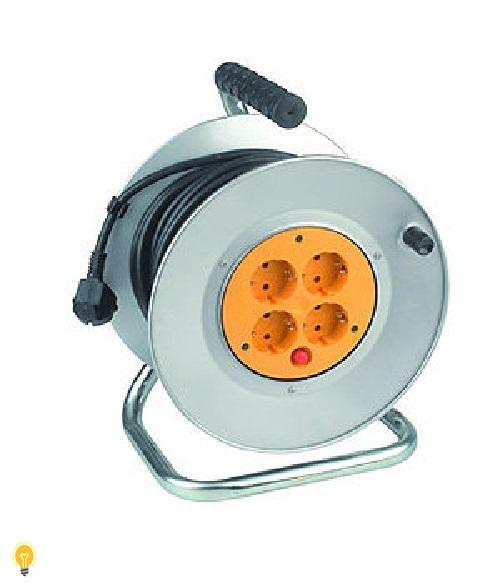 Удлинитель силовой ЭРА металлическая катушка с заземлением. 40м 4гн КГ 3х1.5 мм2 RM-4-3x1.5-40m