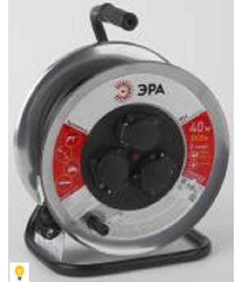 Удлинитель силовой ЭРА металлическая катушка с заземлением. 50м 3гн 3х1 мм2 IP44 RM-3-3x1-50m