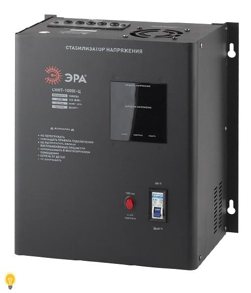 Стабилизатор напряжения настенный, ц.д., 140-260В/220/В, 10000ВА, СННТ-10000-Ц ЭРА