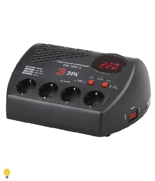Стабилизатор напряжения компакт, ц.д., 160-260В/220В, 1000ВА, СНК-1000-Ц ЭРА