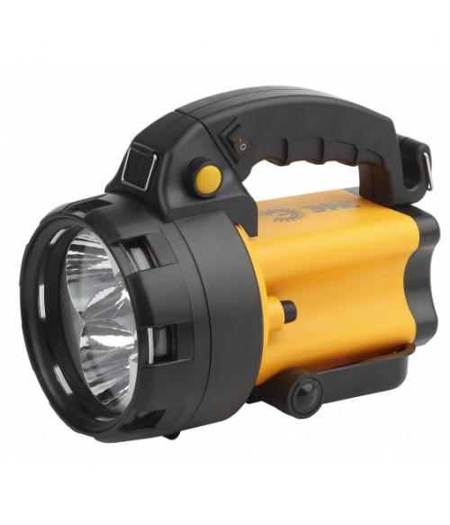 Прожектор АЛЬФА 3x1Вт LED SMD, литий 3Ач, сигнальный свет, ЗУ 220V+12V, карт PA-604