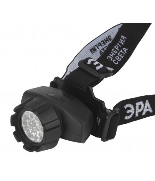 Фонарь ЭРА налобный,14xLED, 3xAAA, 4 режима, черный, блистеристер, GB-603