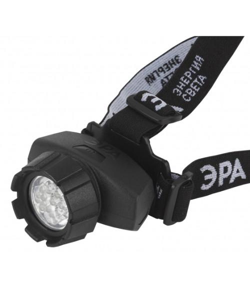 Фонарь ЭРА налобный, 18xLED, 3xAAA, 4 режима, черный, блистеристер, GB-604