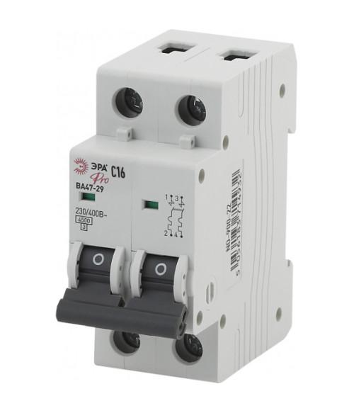 Автоматический выключатель NO-900-31 ВА47-29 2P 32А кривая C ЭРА Pro