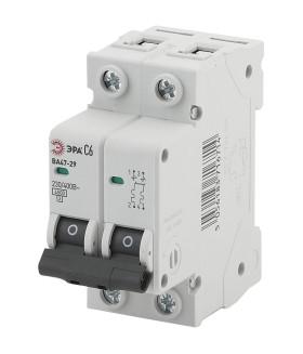 Автоматический выключатель NO-902-111 ВА47-29 2P 20А кривая C ЭРА