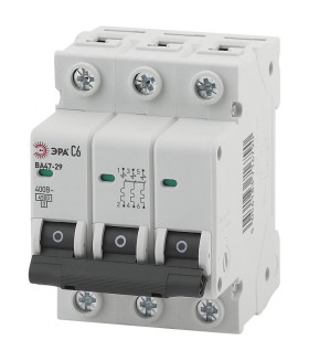 Автоматический выключатель NO-902-117 ВА47-29 3P 10А кривая C ЭРА