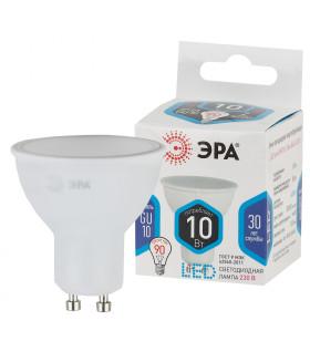 Лампы СВЕТОДИОДНЫЕ СТАНДАРТ ЭРА (диод, софит, 10Вт, нейтр, GU10) LED MR16-10W-840-GU10