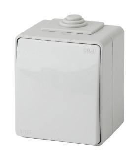 Выключатель IP65, 10АХ-250В, ОУ, Эра Эксперт, серый 11-1601-03