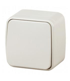 Выключатель, 10А-250В, IP20, ОУ, Polo, слоновая кость 3-101-02