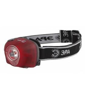 Фонарь ЭРА Налобный 3W LED, аварийный сигнал, 3хААА, 4 режима, блистеристер, GB-502