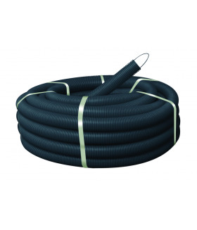 Труба гофрированная ПНД (черный) d 40мм с зонд. легкая 25м GOFR-40-25-HD