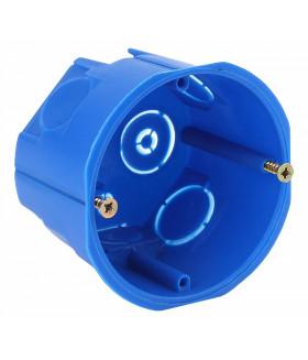 Коробка установочн. КУТ 68х45мм для твердых стен саморез. синяя IP20 KUT-68-45-blue