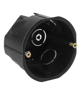 Коробка установочн. КУТ 68х45мм для твердых стен саморез. черная IP20 KUT-68-45-black