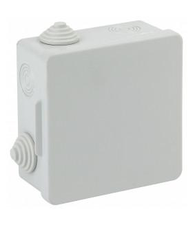 Коробка распаячн. открытой установки КОР 100х100х50мм с гермовводами 8 вх. IP54 ЭРА