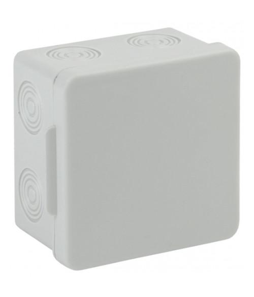 Коробка распаячн. открытой установки КОР 80х80х50мм без гермовводов 7 вх. IP54 KOR-80-80-50-7