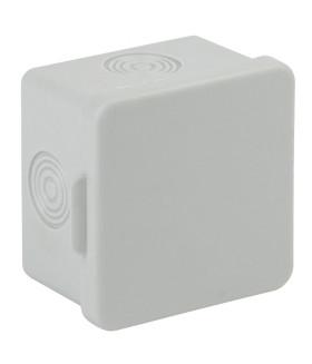 Коробка распаячн. открытой установки КОР 65х65х50мм без гермовводов 4 вх. IP54 KOR-65-65-50-4