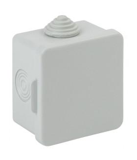 Коробка распаячн. открытой установки КОР 65х65х50мм с гермовводами 4 вх. IP54 KOR-65-65-50-4g